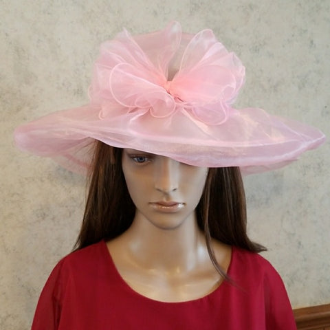 Gorgeous in pink Dress Church Hat