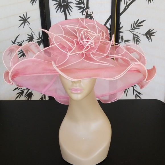 Pink Dress Hat for Wedding - Hat