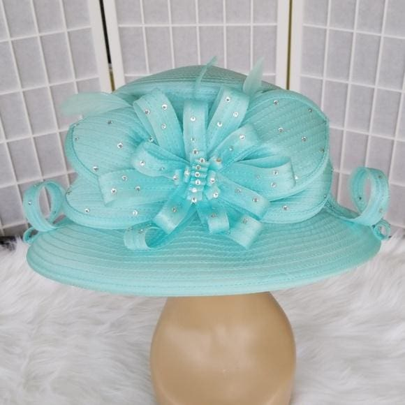 Satin Braid Dress Hat in Mint - Hat