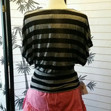 Women's Black and grey top band drop down waist - Exclusively You Fashions Boutique, Frostproof, FL