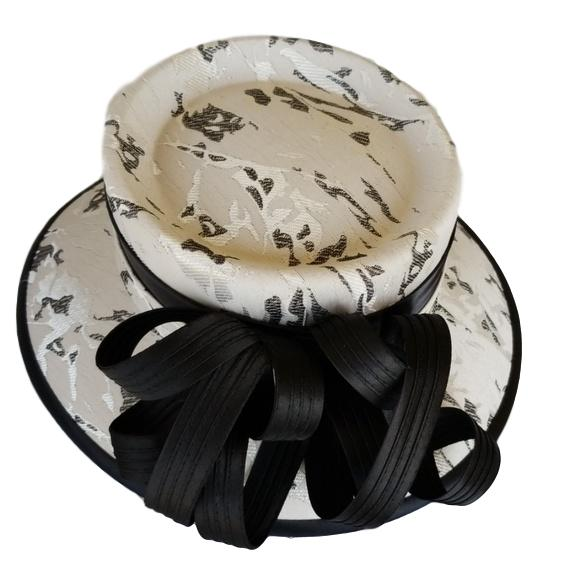 Silver and Black Church Hat - Hat