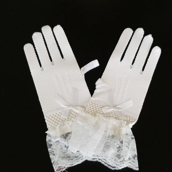 White Lace Gloves - Gloves