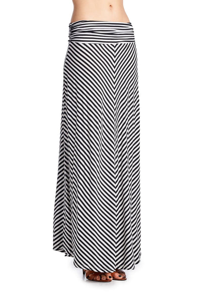 Womens Chevron Stripe Maxi Skirt - Clothes Skirts & Midi