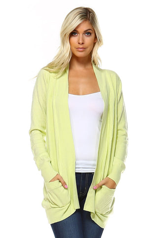 Womens Open Cardigan - Clothes Sweaters