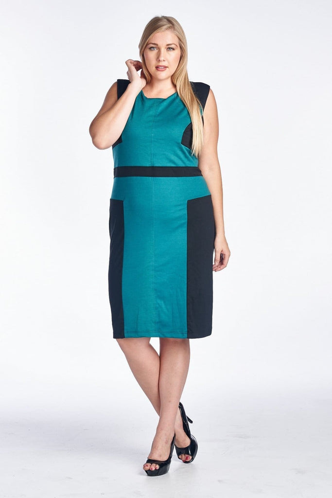 Womens Plus Size Sleeveless Sheath Dress - Plus Sizes Dresses +