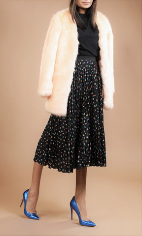 Saint Michel Faux Fur Coat