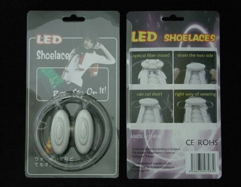 Luminous LED Flashing Disco Light Up Shoe Laces - Godspeed Innovative Singapore