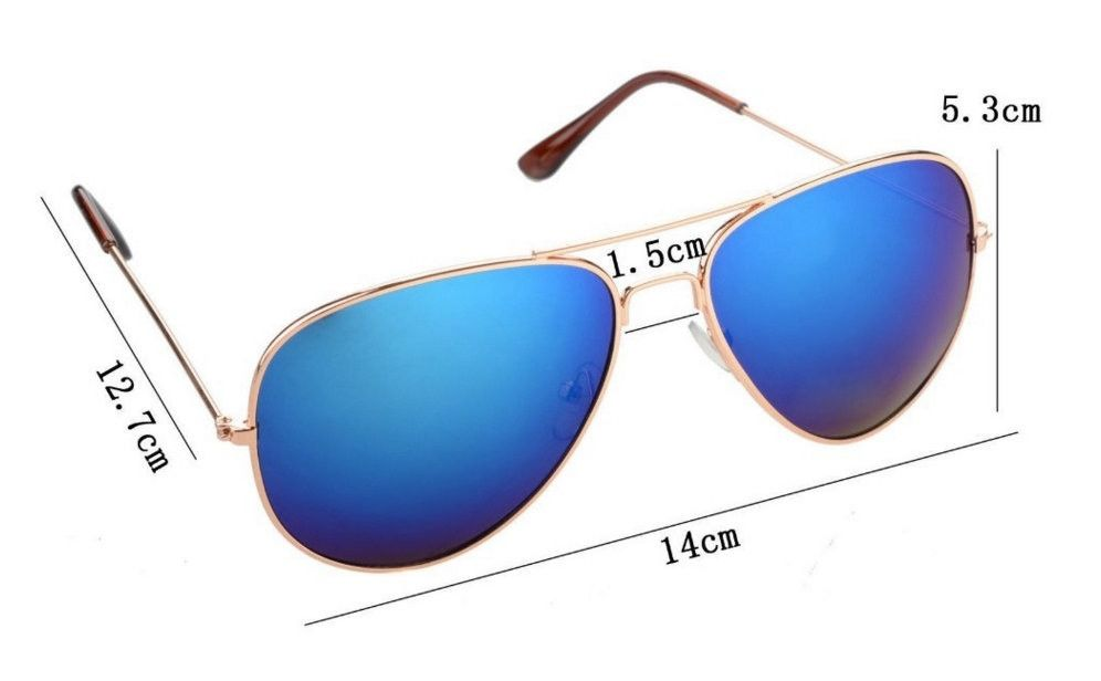 mirrored aviator sunglasses womens bn44  UV400 Multi-Colored Unisex Mirrored Aviator Sunglasses