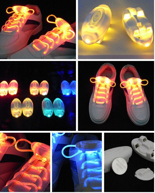 Luminous LED Flashing Disco Light Up Shoe Laces - Godspeed Innovative - 2