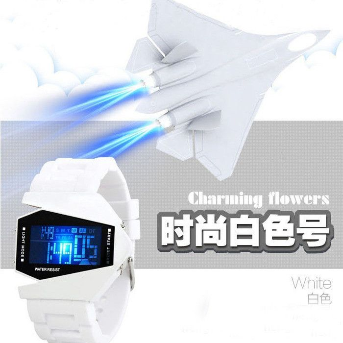 LED Aircraft Dial Airplane Style Silicone Sports Watch - Godspeed Innovative - 3