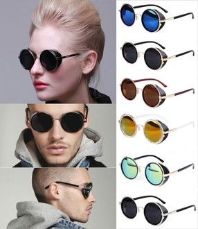 UV400 Fashionable Steampunk Round Sunglasses - Godspeed Innovative - 1