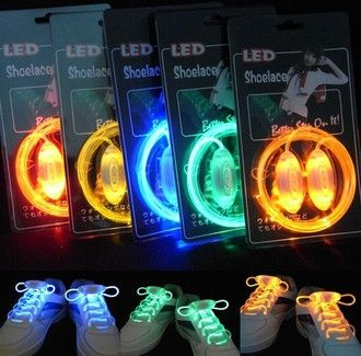 Luminous LED Flashing Disco Light Up Shoe Laces - Godspeed Innovative - 1