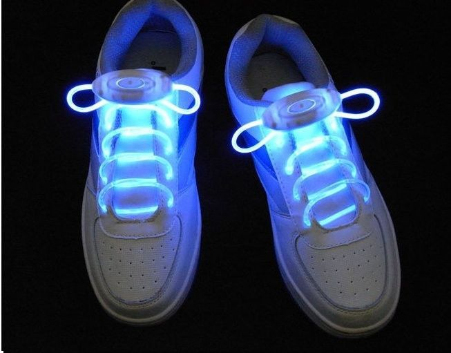 Luminous LED Flashing Disco Light Up Shoe Laces - Godspeed Innovative - 12