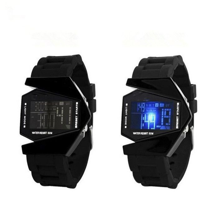 LED Aircraft Dial Airplane Style Silicone Sports Watch - Godspeed Innovative - 4