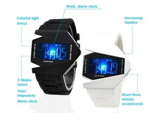 LED Aircraft Dial Airplane Style Silicone Sports Watch - Godspeed Innovative - 1