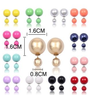 Colorful Artificial Pearl Paragraph Shining Earrings - Godspeed Innovative - 1