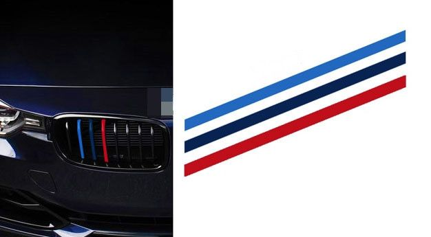 Car Front Grille Classic Colors Reflective Stickers BMW - Godspeed Innovative - 8