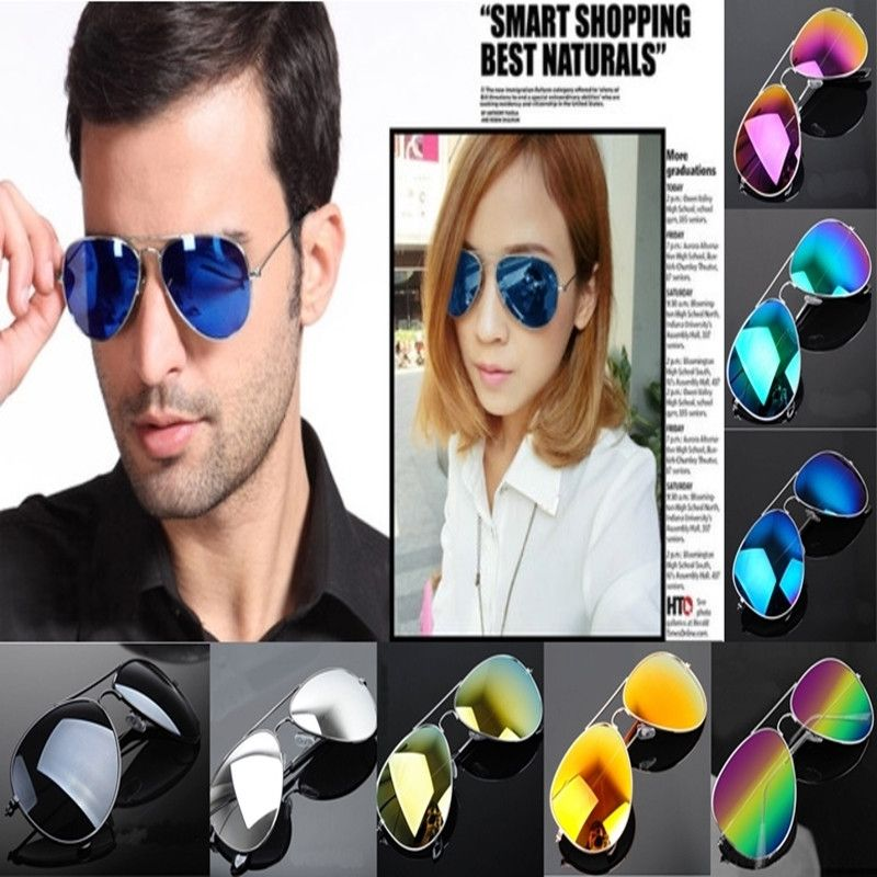 UV400 Multi-Colored Unisex Mirrored Aviator Sunglasses - Godspeed Innovative - 1