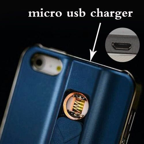 USB Rechargeable Wind-Proof Lighter Phone Cover - Godspeed Innovative - 30