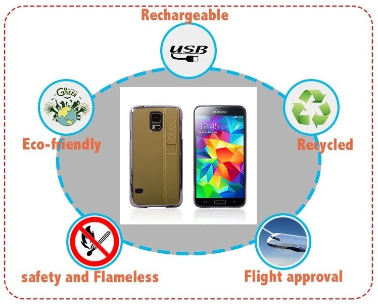 USB Rechargeable Wind-Proof Lighter Phone Cover - Godspeed Innovative - 1