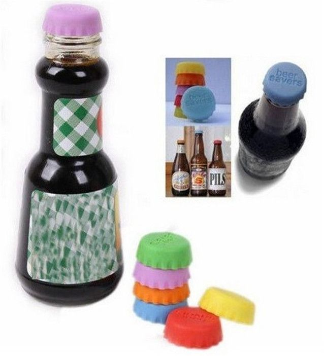 New Silicone Beer/Wine/Drinks Bottle Savers Caps - Godspeed Innovative - 6