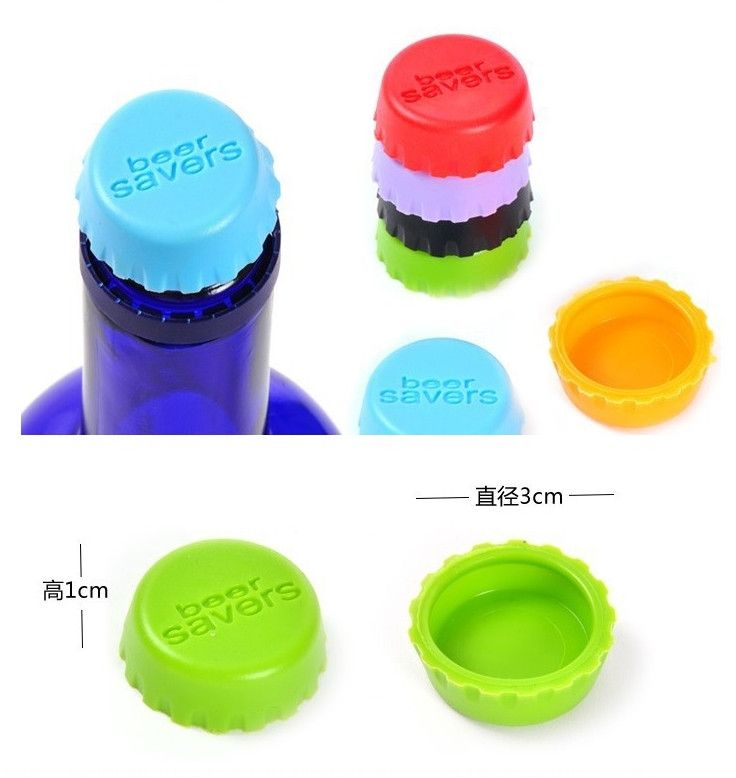 New Silicone Beer/Wine/Drinks Bottle Savers Caps - Godspeed Innovative - 5
