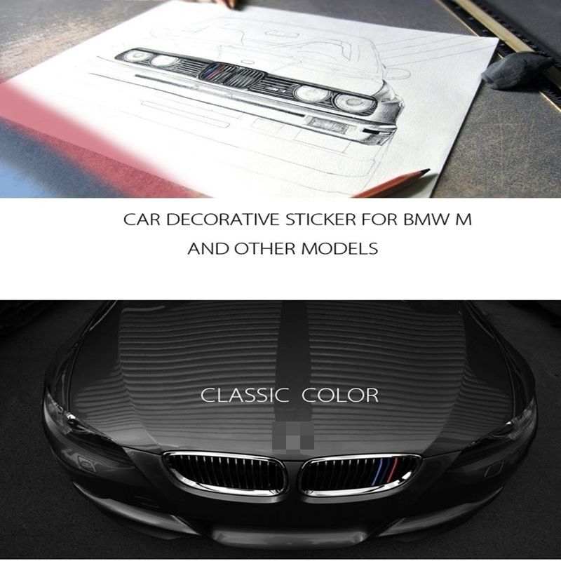 Car Front Grille Classic Colors Reflective Stickers BMW - Godspeed Innovative - 1