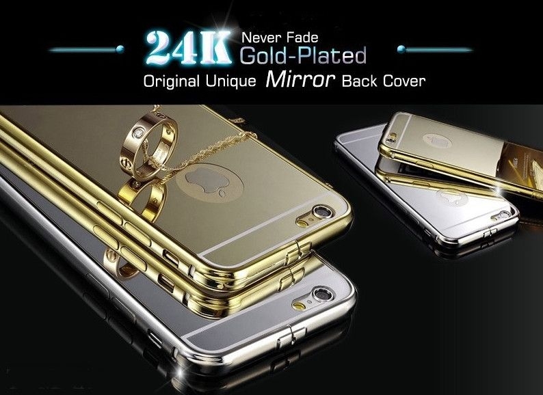 IPhones Mirror Aluminium  Acrylic Back Cover And Bumper - Godspeed Innovative - 3