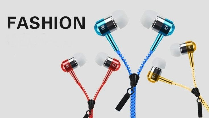 Universal Stereo Bass Microphone  Zipper Style Earphones - Godspeed Innovative - 3
