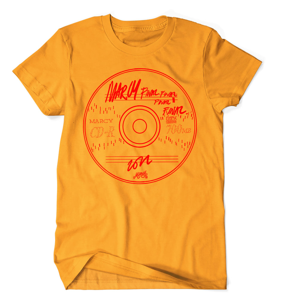 CD-R tee on Gold
