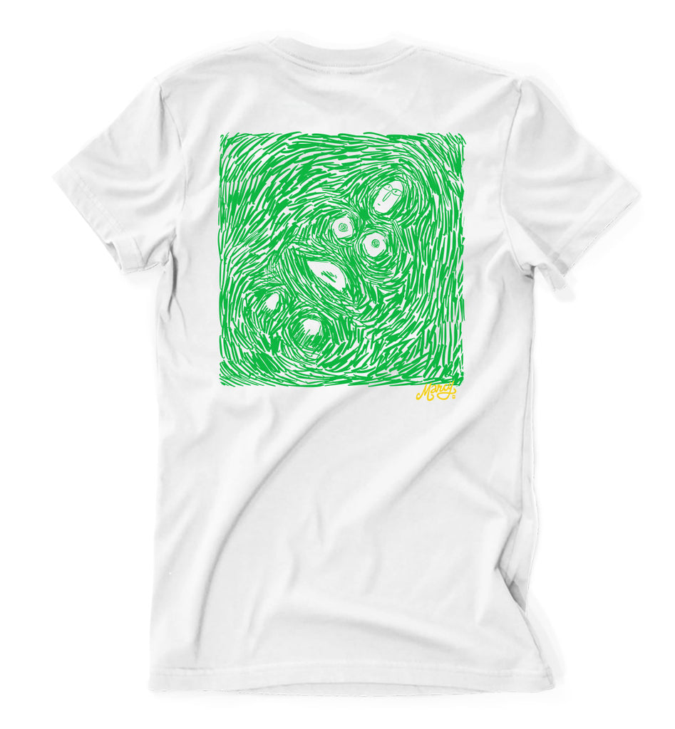 Floating points tee on white