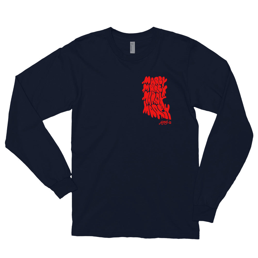 Marcy melt on long sleeve navy
