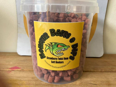 Monster Baits & Dips 9mm Soft Pellets - Strawberry Twist