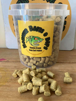 Monster Baits & Dips 9mm Soft Pellets - Banana Cream