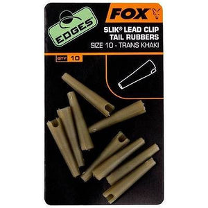 Fox Edges Slik Lead Clip Tail Rubbers size 10 Terminal Tackle Fox- GO FISHING TACKLE