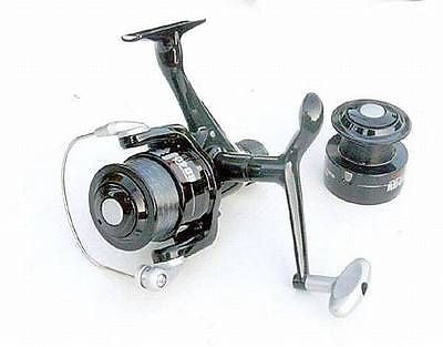 LINEAEFFE FEEDER Rear Drag 40 Reel with extra Graphite Spool