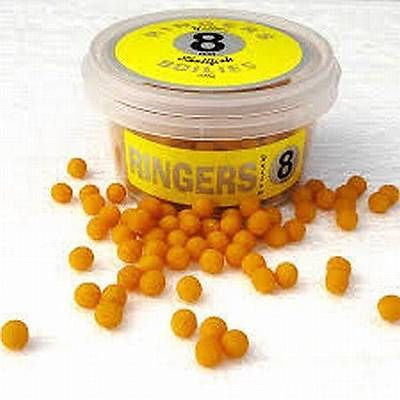 Ringers shellfish Boilies 100g tub 8mm (yellow) 10mm (white and red)