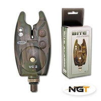 NGT Camo Bite Alarm With Volume & Tone Control VC-2 Bite Alarms and Indicators NGT- GO FISHING TACKLE