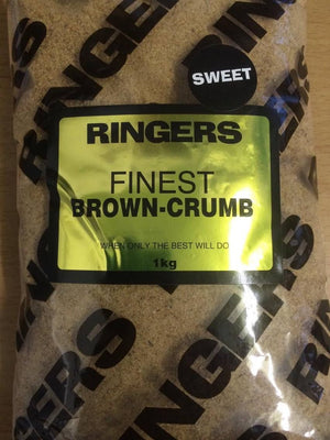 Ringers finest brown crumb 1kg Groundbaits ringers- GO FISHING TACKLE