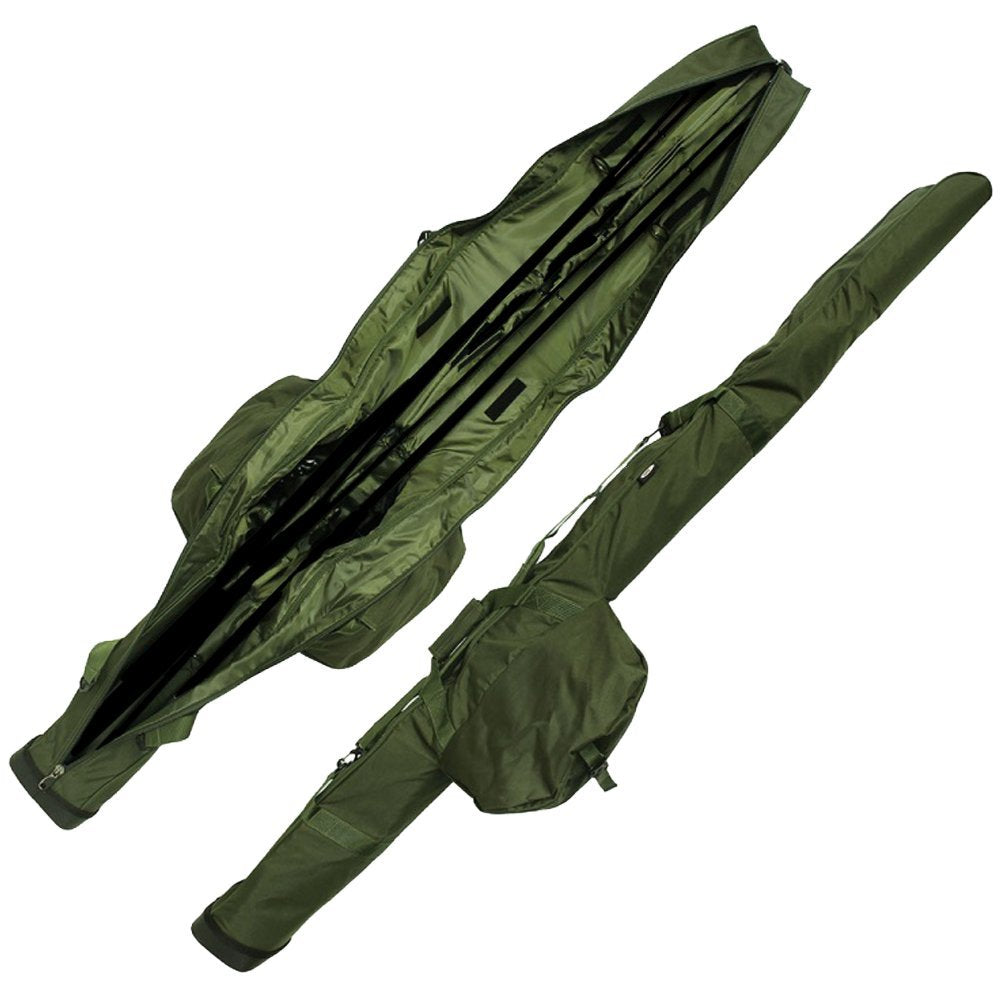 NGT Carp Fishing Deluxe Padded Triple Rod Sleeve Holdall 3 Made Up 12ft Rods