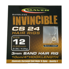 Maver Invincible CS24 hair rigs match hooks Maver- GO FISHING TACKLE