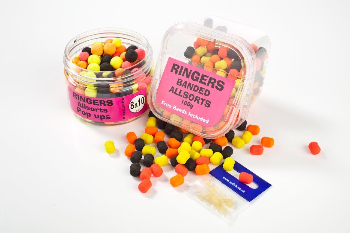ringers banded allsorts Boilies and Pop Ups ringers- THE MATCHMEN ANGLING CENTRE