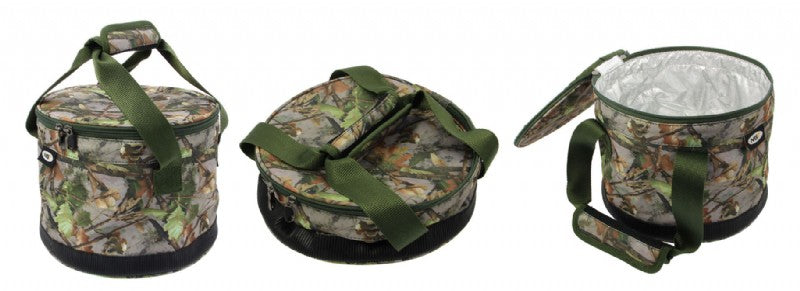 Bait Bin With Handles & Zip Cover in camo Specimen Luggage NGT- GO FISHING TACKLE