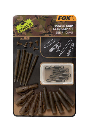 Fox Edges Camo Power Grip Lead Clip Kit Sz 7