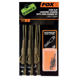 Fox Edges Lead Clip Leadcore Leaders with Kwik Change Kit Terminal Tackle Fox- GO FISHING TACKLE