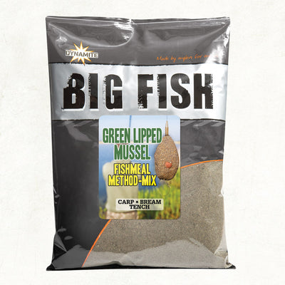 Dynamite Baits Big Fish Green Lipped Mussel Fishmeal Method-Mix