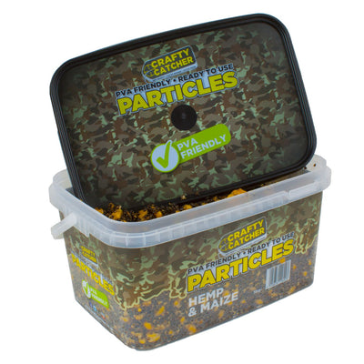 HEMP & MAIZE PARTICLES  3KG particles Crafty Catcher- GO FISHING TACKLE