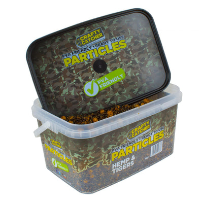 Hemp & Tiger Nuts Particles Mix. PVA Friendly Prepared Bait particles Crafty Catcher- GO FISHING TACKLE
