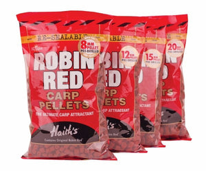 Dynamite Baits Robin Red Carp Pellets PRE- DRILLED 900G Pellets Dynamite Baits- GO FISHING TACKLE