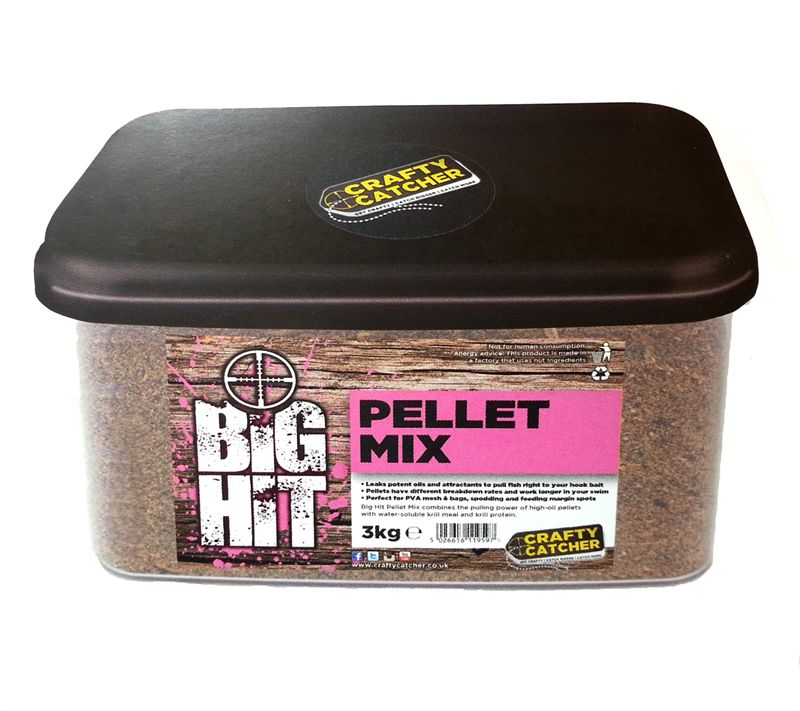 Crafty Catcher Big Hit Pellet Mix 3kg particles Crafty Catcher- THE MATCHMEN ANGLING CENTRE